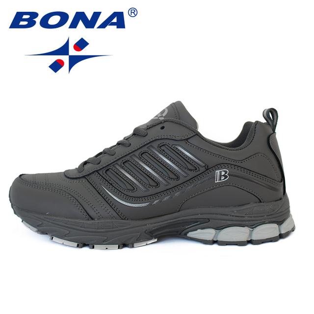 BONA Estilo Nuevo Más Popular de Los Hombres Zapatos Corrientes Al Aire Libre Caminar Sneakers Cómodo Zapatos Atléticos de Los Hombres Para El Deporte