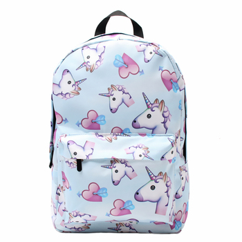 3D Printing Heart Unicorn Shoulder Bag for Girls School