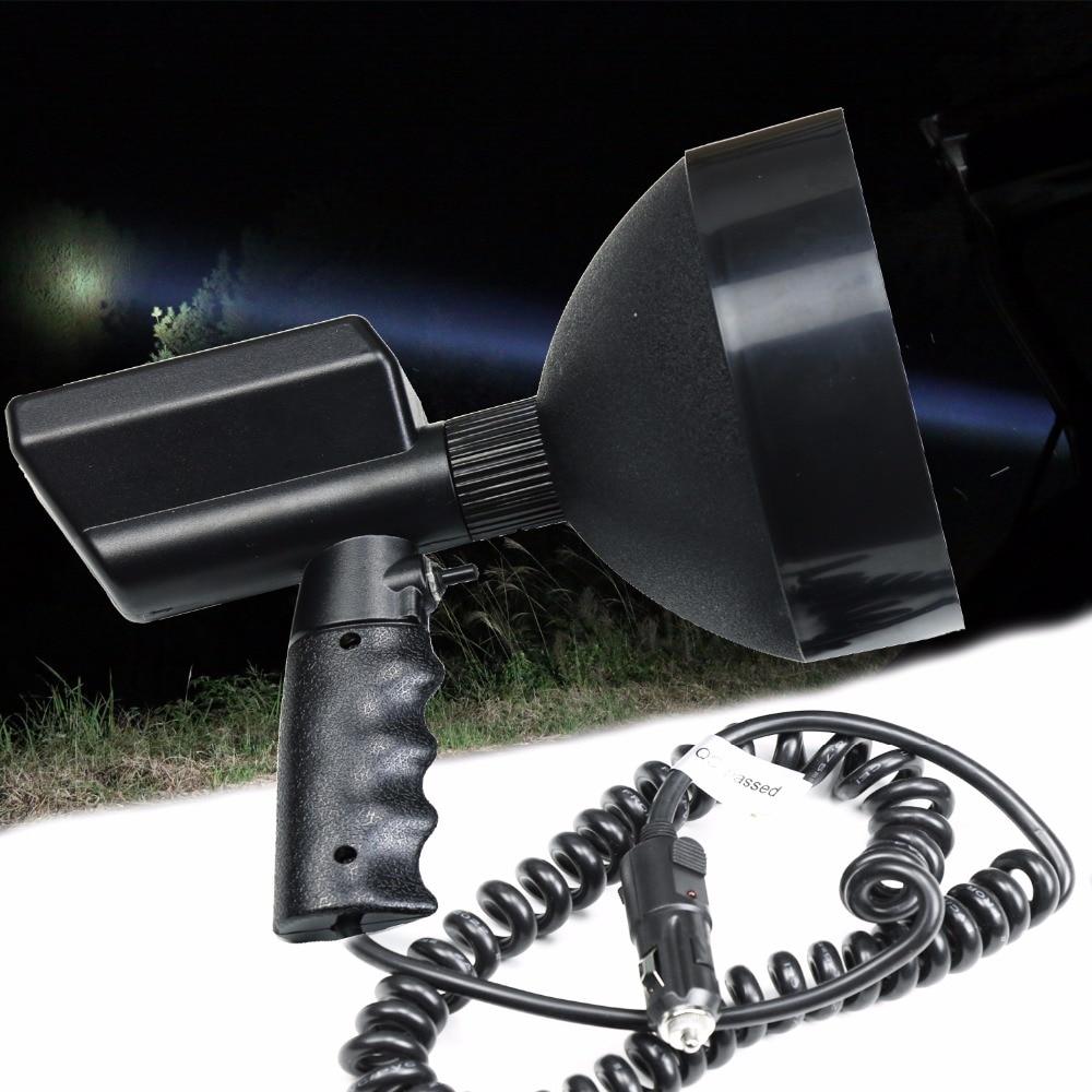 2000m Handheld HID Xenon Offroad Spotlight 7 175mm for Fishing Camping Hunting Portable 12V 100W 12v 24v 100w hid 7inch xenon handheld super light spotlight emergency light for camping hunting fishing boating