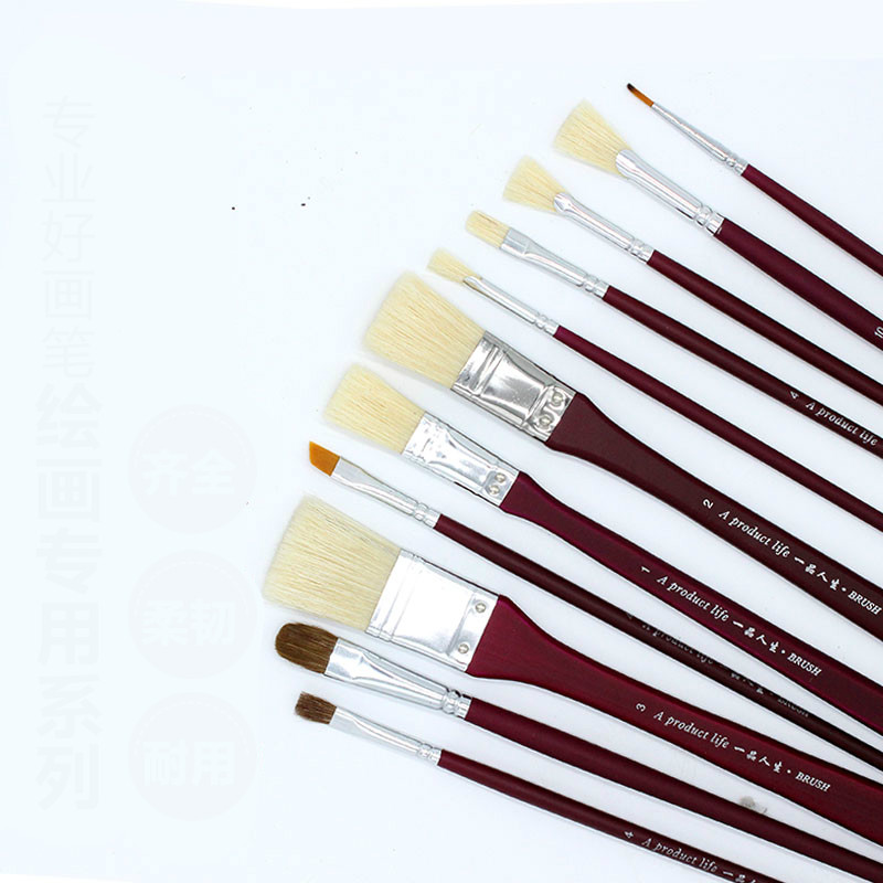 все цены на 13 pcs/set Watercolor Gouache Paint Brushes Different Shape PanNylon Mix with Bristle Hair Painting Brush Set Art Supplies