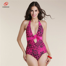 2016 Sexy Summer Floral High Waist One Piece Suits Monokini Swimsuit Bathing Suit  For Women Girl Swimwear Plus Size XL-5XL