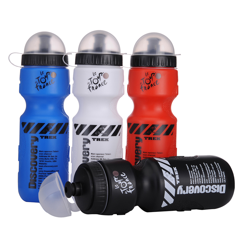 650ml Portable Bike Riding Water Bottles Sports Cycling Bottle With Transparent dust cover for Bicycle Outdoor Sports