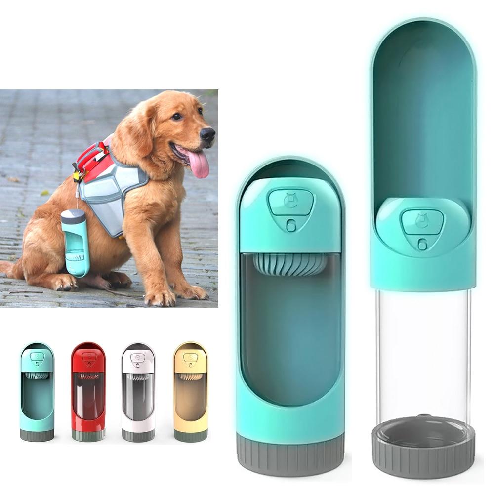 Portable Dog Cat Pet Puppy Drinker Fresh Water Bottle: 300ml Pet Dog Water Drinking Bottle Travel Portable Puppy