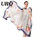 [URQ] Новый Дизайн Шарф Печати SpringScarf Женщины Шали Мягкие шелковые Шарфы Марка Шарф Женщины Wrap S9A18764