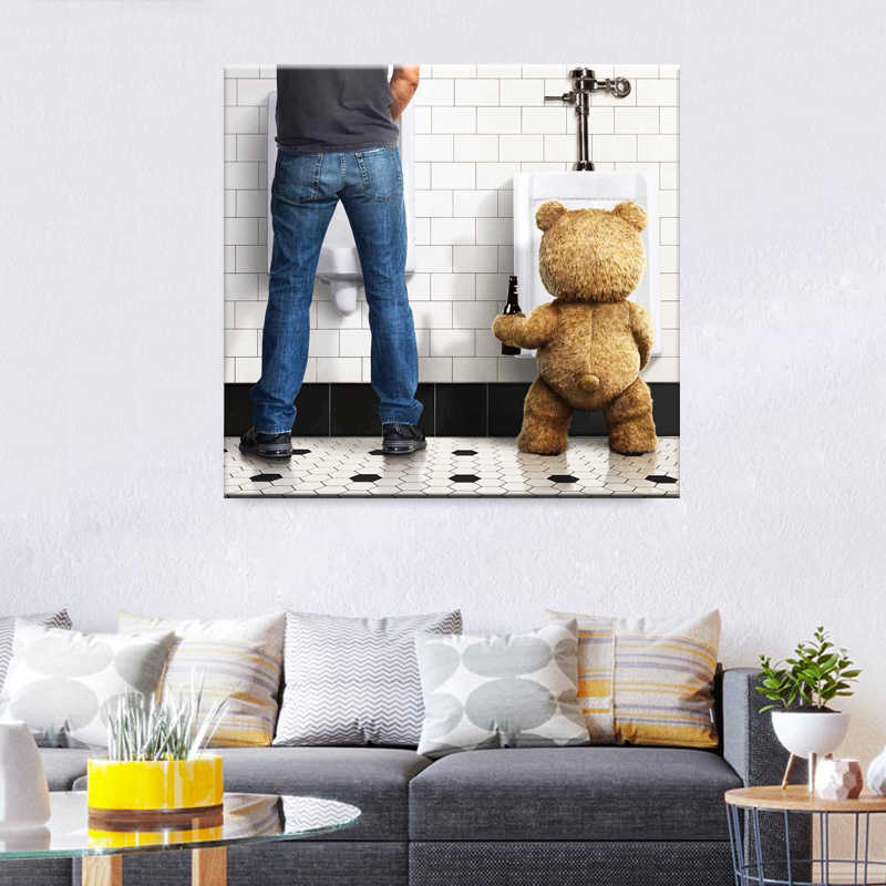 Funny Toilet Paper Modern Minimalism Canvas Painting Poster Home Decor Wall Art Print Wall Pictures For Bathroom