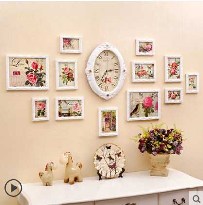 Online Buy Wholesale wooden photo frame wall clock from China
