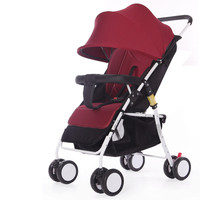 4.8 Kg Ultralight Baby Stroller High Landscape Four wheeled Trolley Foldable Portable Newborns Pushchair Shock Absorption Design