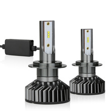 2X NO INTERFERENCE ZES H7 LED Bulb Canbus Car Light Headlight 12000LM 100W 6000K 12V 24V Automobile Turbo Led Lamp