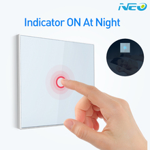 EU Version 1 gang z-wave Wall Light Switch Sensor Smart Home Z wave Operating mode touch-sensitive with feedback