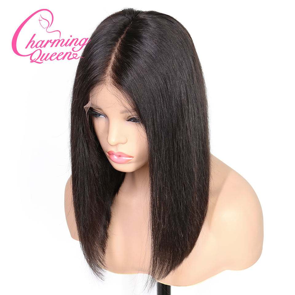 13 6 Deep Part Lace Front Human Hair Wigs For Black Women Pre Plucked Brazilian Remy