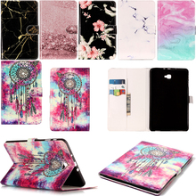 Funda Capa For Samsung Galaxy Tab A A6 10.1 SM-T580 T585 Fashion Marble Leather Wallet Flip Case Tablet Ebook Cover Coque Cases film stylus aoruiika new fashion stand leather case cover for samsung galaxy tab a6 a 10 1 t580 t585 t585n tablet capa funda