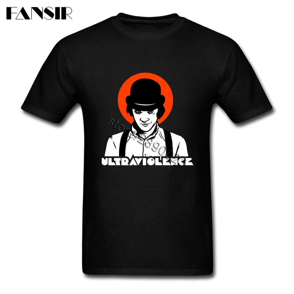 Stanley <font><b>Kubrick</b></font> A Clockwork Orange Tees Shirt Geek Men T-shirts Short Sleeved 100% Cotton Crew Neck T-shirt For Teenage image