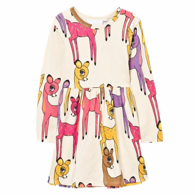 Kid Dress For Girl Cartoon Deer Girls Dress Spring AutumnChildren Clothing Winter Cute Toddler 2020 Fashion Party Costume