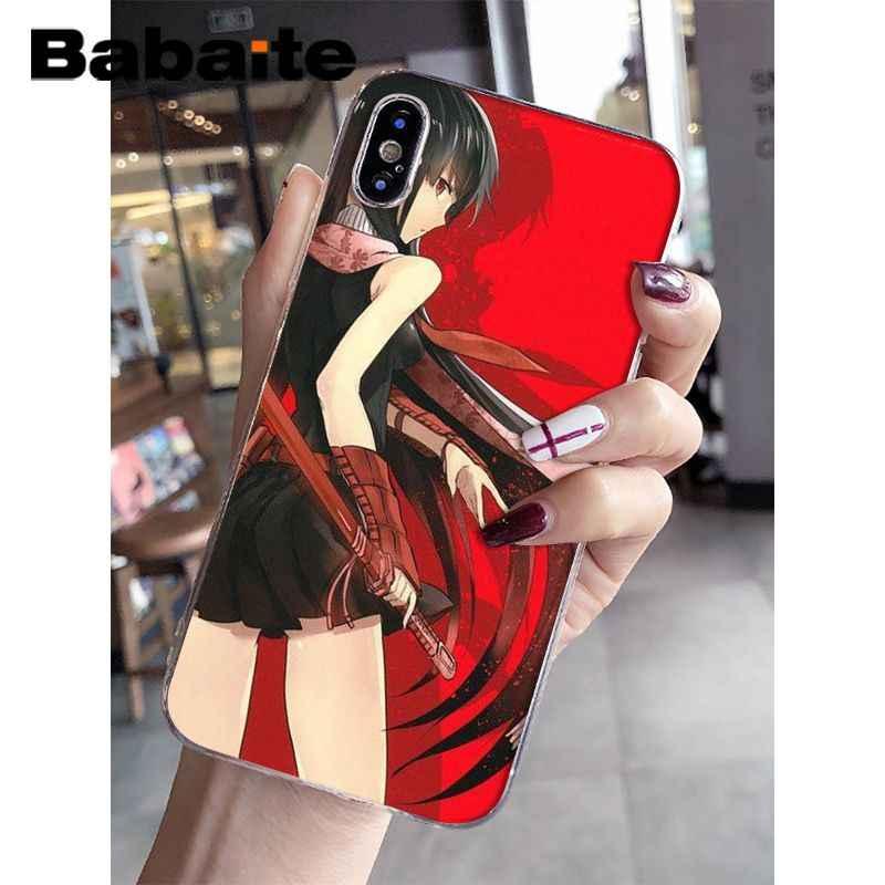 Babaite Akame Ga KILL! Silicone mềm mại Trong Suốt Ốp Lưng Điện Thoại cho iPhone 8 7 6 6S Plus 5 5S SE XR X XS MAX Coque Vỏ