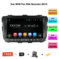 1024 600 HD 2 Din 8 Android 5 1 Car DVD GPS For Kia Sorento 2013