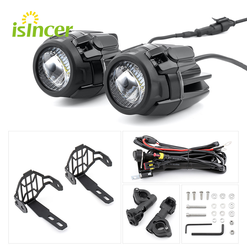 2 pieces Universal Motorcycle LED Auxiliary Fog Light Assemblie Driving Lamp 40W Motorcycle Headlight For BMW R1200GS ADV