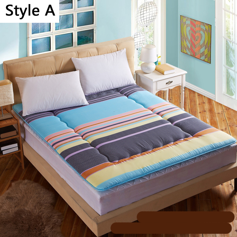 Simple stripes  Thick Warm Foldable Single Or Double Mattress Fashion NEW Topper Quilted BedSimple stripes  Thick Warm Foldable Single Or Double Mattress Fashion NEW Topper Quilted Bed