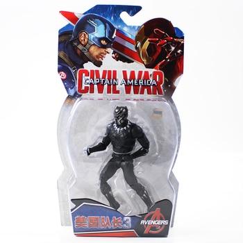 17cm Avengers Super Hero Captain America 3 Civil War Black Panther Superhero PVC Action Figure Collectible Model Toys Doll