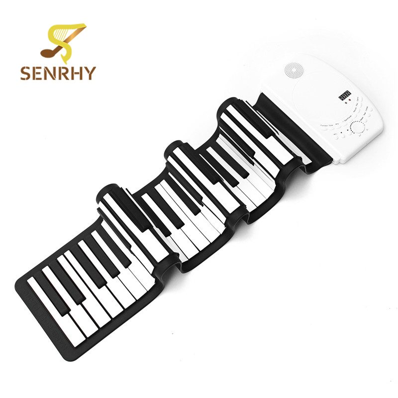 SENRHY Portable Flexible 61 Keys Digital Soft Keyboard Piano Foldable Electronic Roll Up Piano With Ten Parts Gifts programmable usb yd890a 15 keys digital keyboard password keyboard with contactless ic reader double lcd display for epos