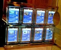 Comparar Marco acrílico a4 de doble cara Led con caja de luz espejo mágico marcos de carteles