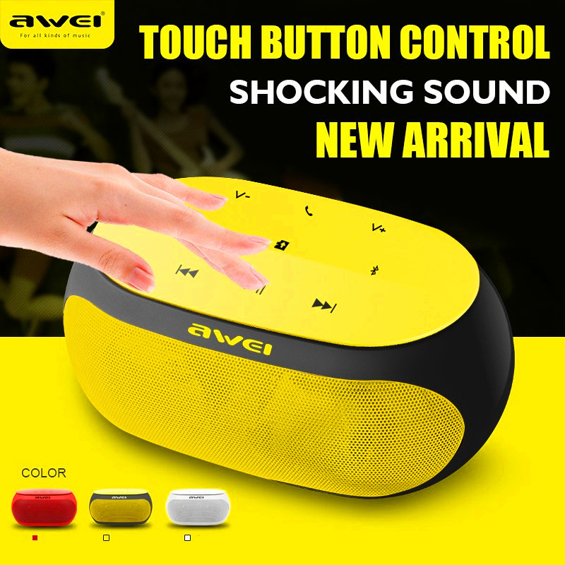 Awei Y200 Bluetooth Speaker Stereo Wireless Portable Mini Speakers Support TF card AUX input with Microphone Sound Box