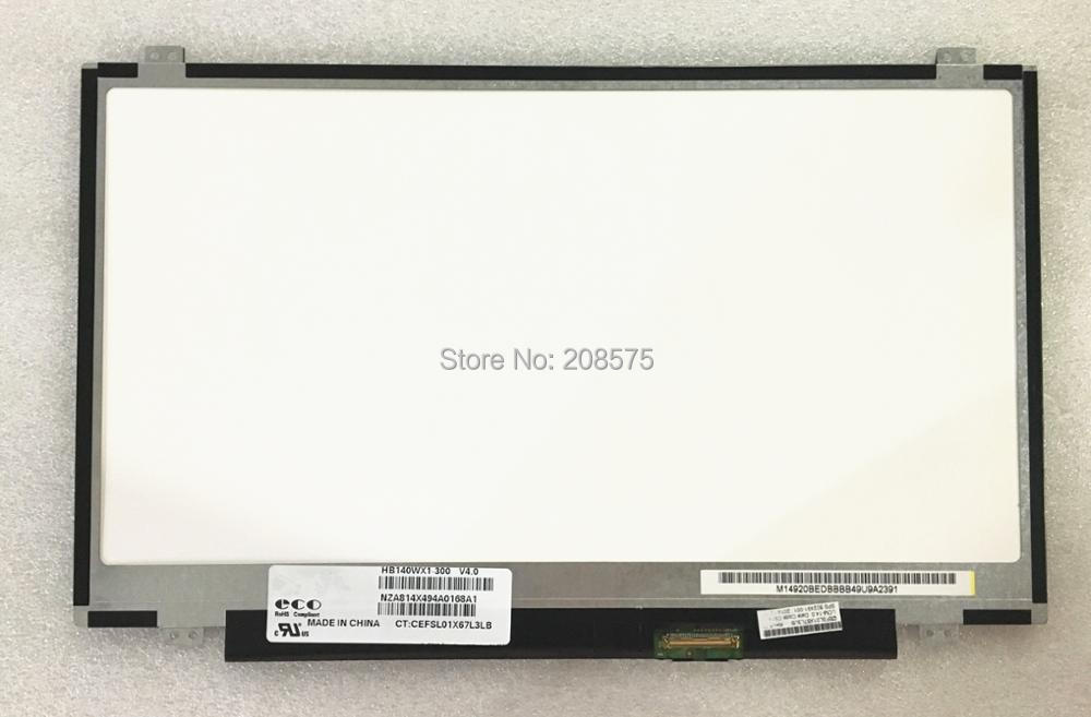 Free shipping HB140WX1-300 HB140WX1-400 HB140WX1-500 LP140WH2-TLL1 LP140WH2-TLM1 Laptop Screen 1366*768 40 pin