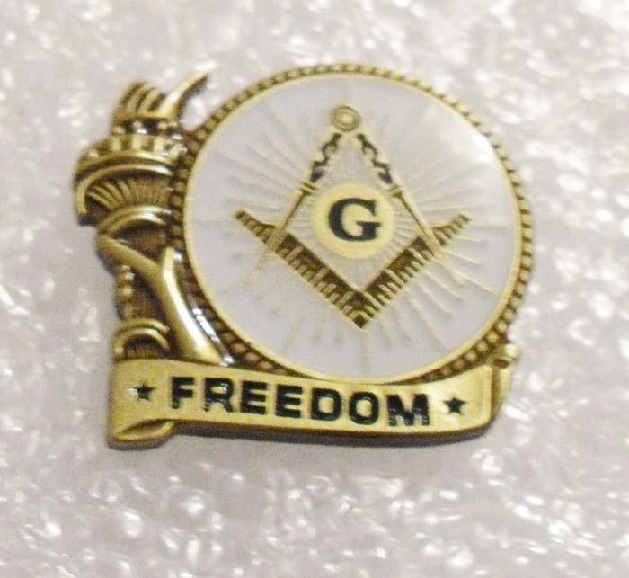ENVÍO GRATIS Masonic Freedom Liberty Arm Pin de solapa de esmalte - Artes, artesanía y costura