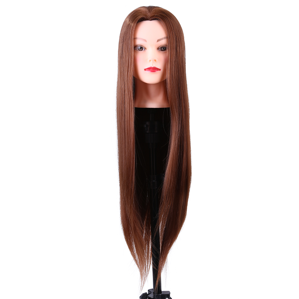 Synthetic Fiber Mannequin Head Hairdresser Training Head Cosmetology Doll Head Hairstyle Hairdressing Training Doll Female