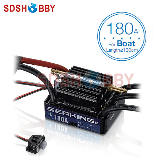 Hobbywing Seaking 180A Brushless ESC for Boat (Version3.0) with Water Cooling System hobbywing seaking pro 160a 120a waterproof brushless esc electric speed control with bec for rc boat