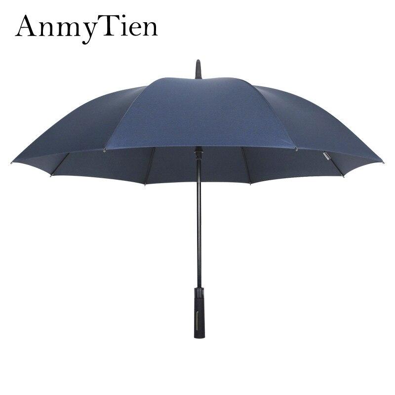 Golf Umbrella 114CM Diameter Super Big Bold Full Carbon Fiber Frame Strong Windproof Long Handle Man Business Umbrella