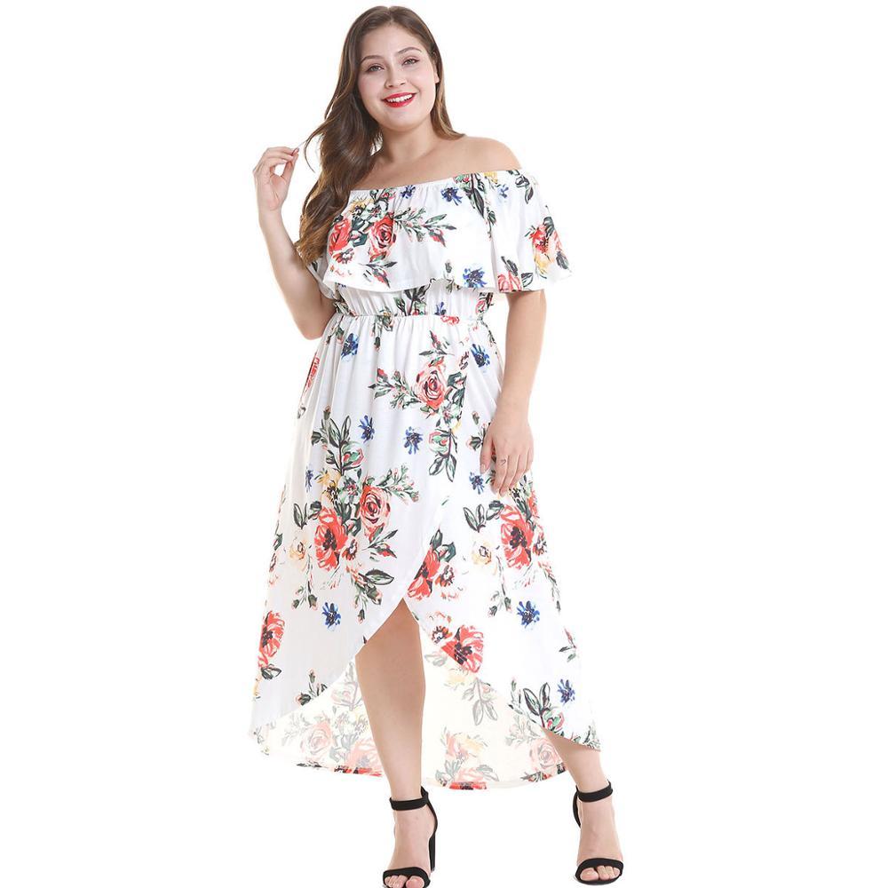 Vintage manches courtes grande taille impression robe blanc Tropical plage Vintage robes Boho tunique décontractée drapée grande taille robe de soirée