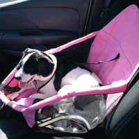 Cesta do cão dobrável filhote de cachorro cama do cão rede à prova dwaterproof água pet esteira assento do carro capa transportadora cão com tração fivela para