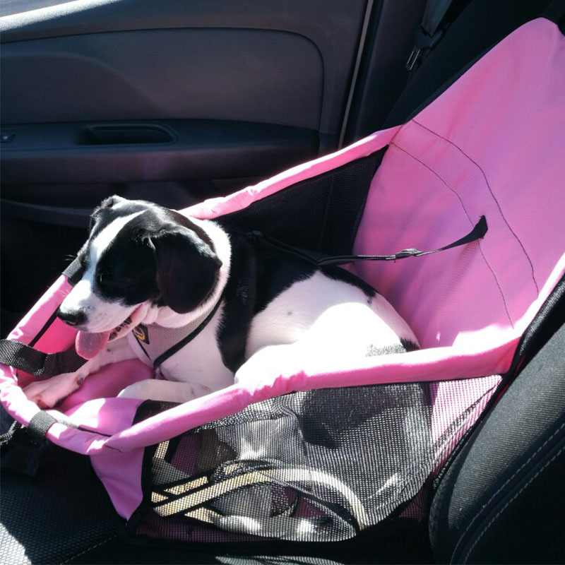 Dog Basket Folding Puppy Dog Bed Hammock Waterproof Pet Mat Car Seat Cover Dog Carrier with Traction Buckle cama para cachorro(China)