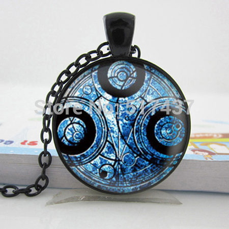 Wholesale Glass Dome Necklace Doctor Who Time lord Necklace Time Machine jewelry Doctor Who Pendant Glass Cabochon Necklace