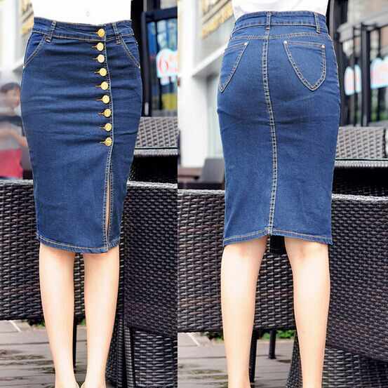 Popular Womens Long Jean Skirts-Buy Cheap Womens Long Jean Skirts ...