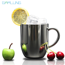 Free shipping double walled 10oz insulated stainless steel coffee mug tea cup