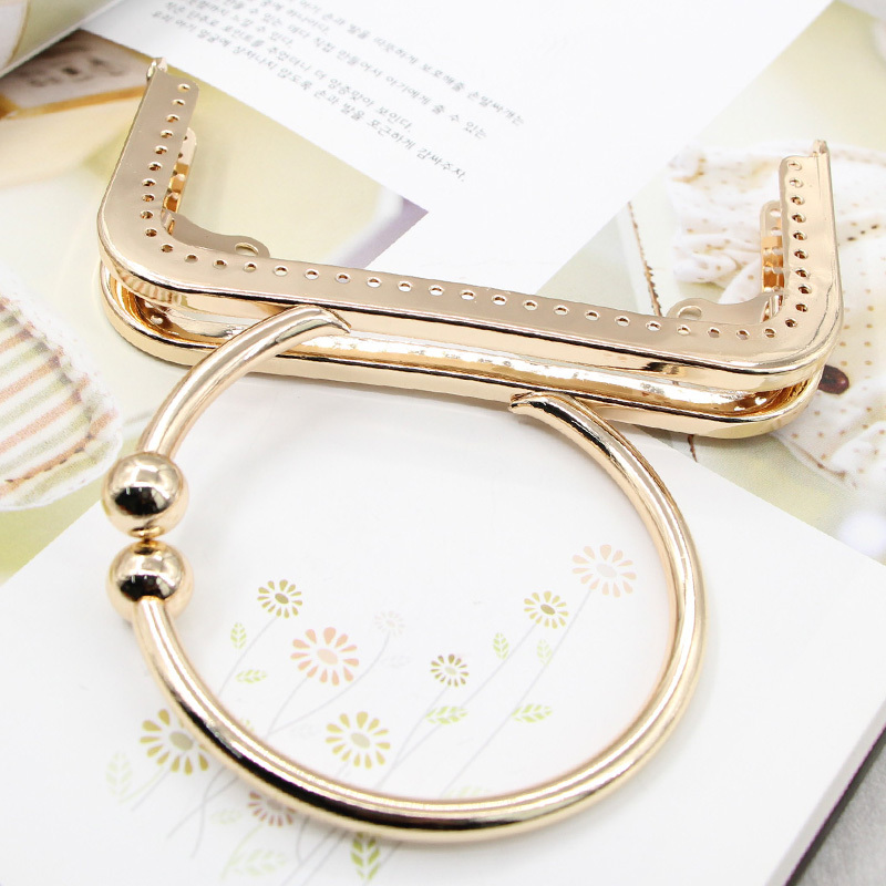 Size 12.5 cm Gold Metal Purse Frame Bag Handle Fermoir Sac Coin Purse Clasps DIY Obag Handle Accessories Nice Metal Purse Frame