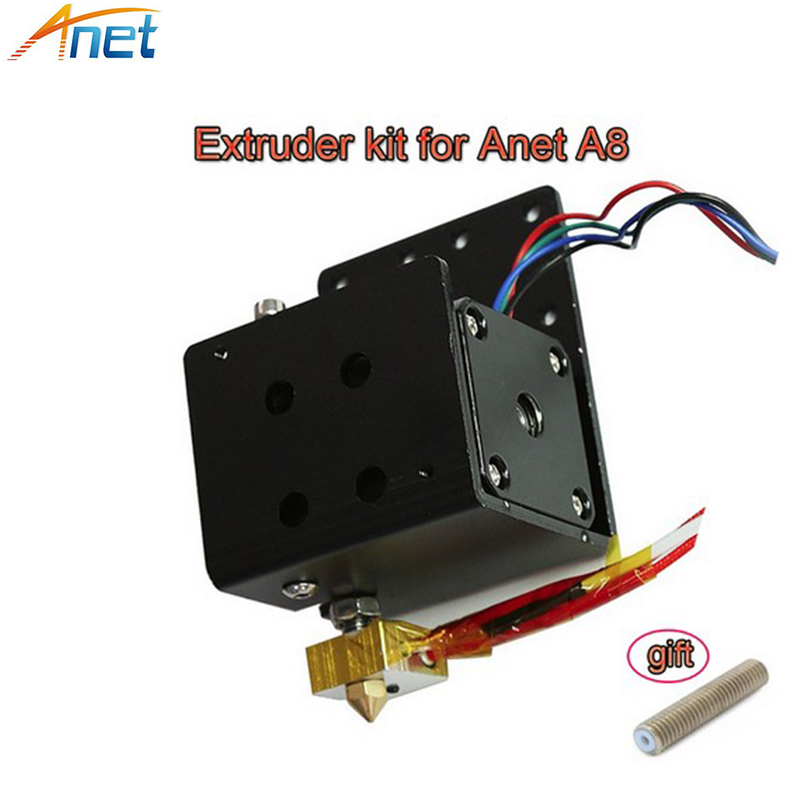 Anet A8 A6 Extruder Head MK8 Motor Kit 3D Printer Part J-head Hotend Nozzle Feed Inlet Diameter 1.75 Filament Extra Nozzle