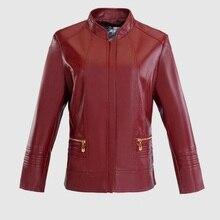 6XL 5XL 4XL плюс размер осень 2017 г. Для женщин PU кожаная куртка короткая заметка модная красная кожа PU мотоциклетная куртка W1137