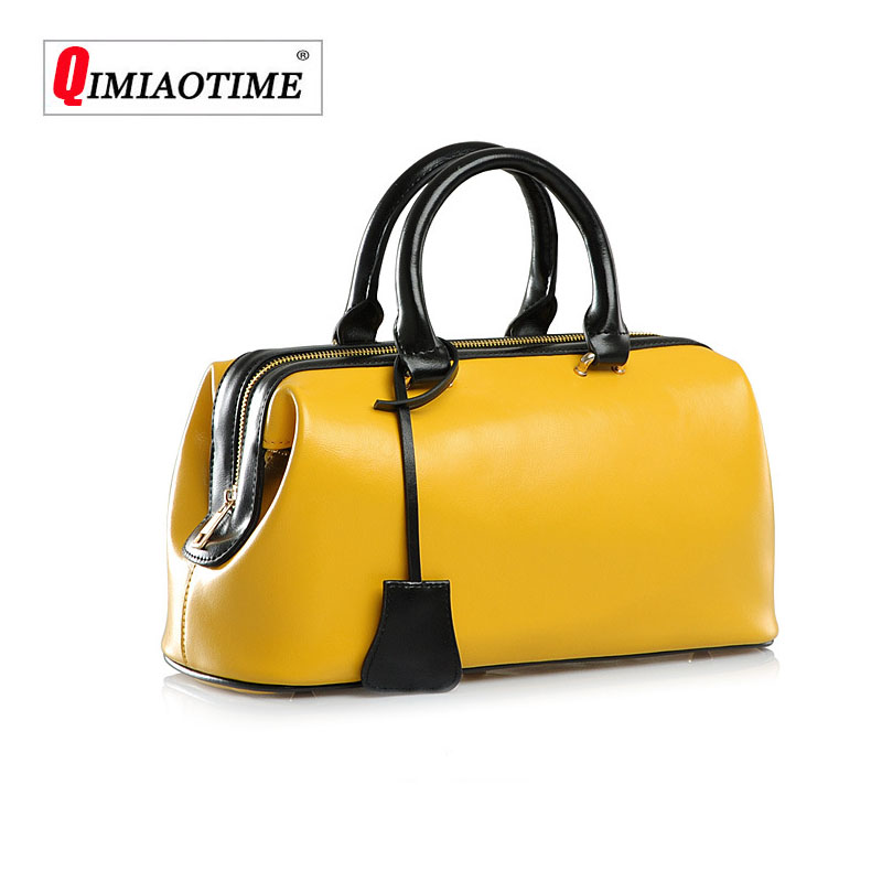 Brand Female Bag2018New Trend Women Leather Handbags Europe and The United States Retro Doctor Bag Fashion High Quality Handbags цена