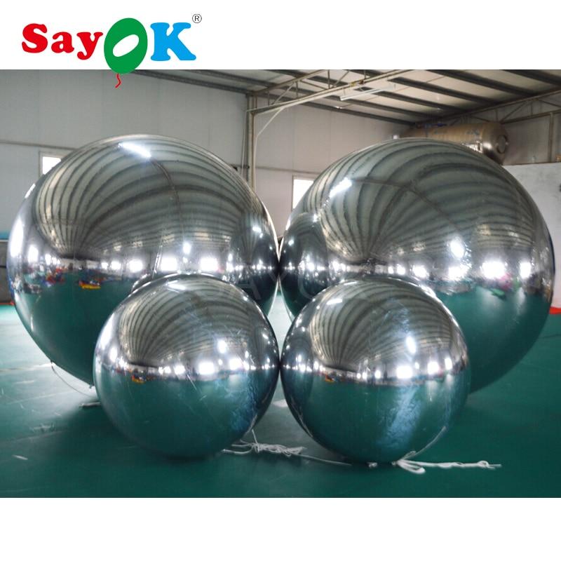 Bola de espejo inflable de PVC personalizada, globo de espejo inflable para publicidad, promoción, decoración de exposición-in Globos y accesorios from Hogar y Mascotas    1