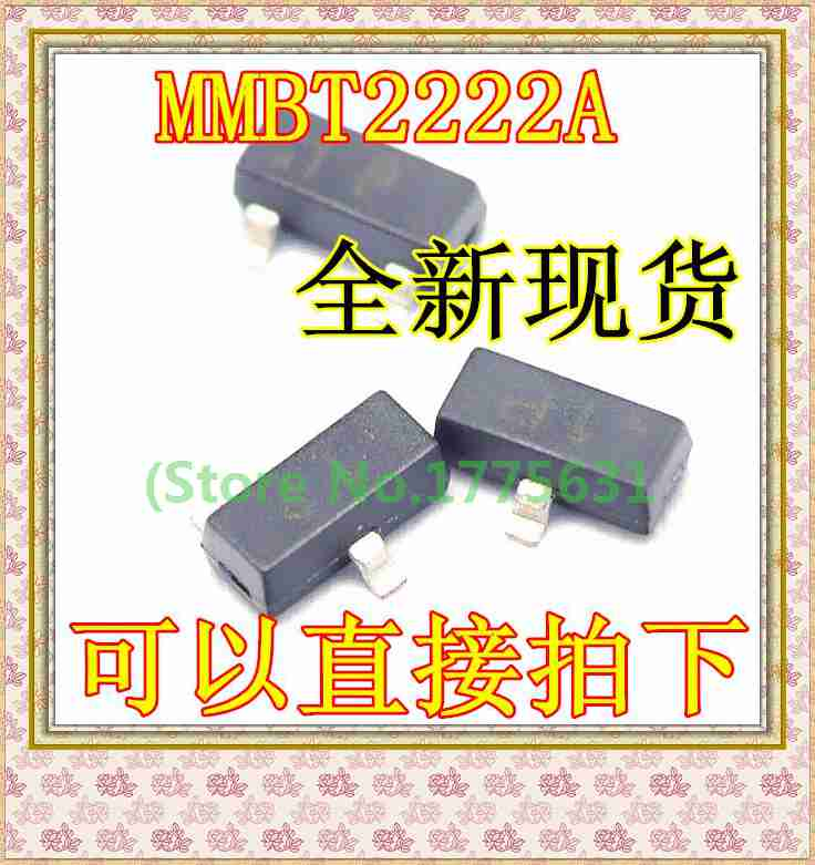 100pcs/lot MMBT2222A MMBT2222 SOT-23 In Stock