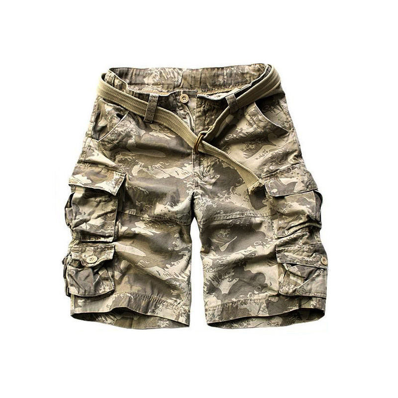 new Men Shorts Masculino Camouflage Cargo Military Shorts Mens Homme Outwear Cotton Loose Casual Army Short Pants11color