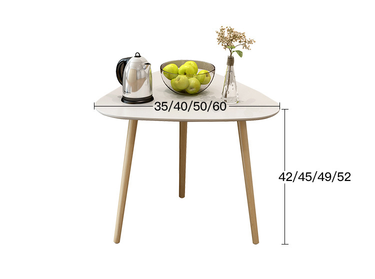 Triangle Eco-friendly Wooden Coffee Table Living room tea tables end table Bed small side table цена