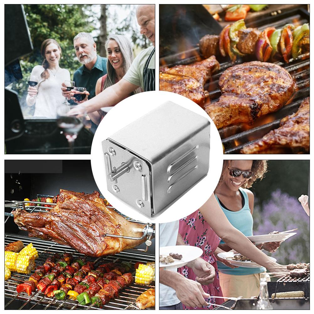 82cm Automatic BBQ Grill Rotisserie Electric BBQ Motor Spit Roaster Rod Meat Fork Outdoor Camping Cooking Tools 220 240V 4W - 3