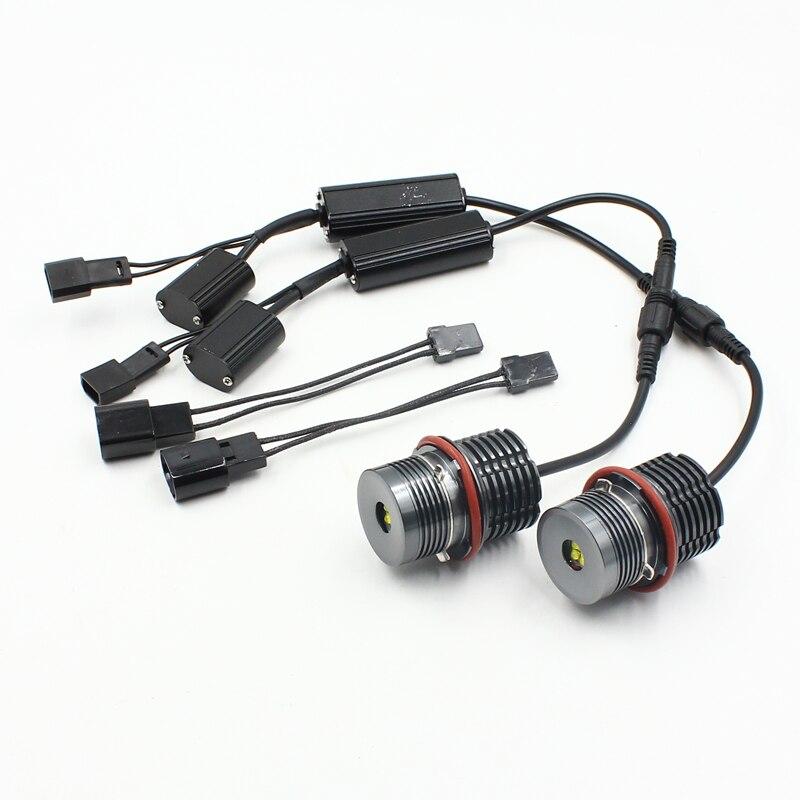 Rockeybright 2X e39 LED ange yeux 25 w pour bmw e39 indicateur LED 25 w phare LED 25 w pour bmw e39 e60 e61 e63 e83 e53 x3 x5