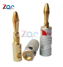 24 K Placcato Oro Per Nakamichi Spina A Banana Dell'altoparlante di Rame Puro Audio Jack Connector(China)