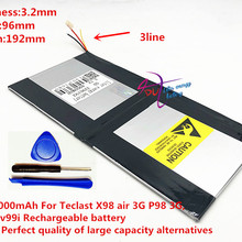 3,7 в 8000 мАч 3296192 для Teclast X98 воздуха 3g P98 3g планшетный ПК Батарея 3 провода X98 X98 air p98 X98 P98HD P98