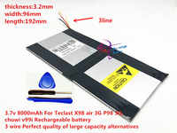 3.7v 8000mAh 3296192 Pour Teclast X98 air 3G P98 3G Tablette PC Batterie 3 fils X98 X98 D'AIR p98 X98 P98HD P98