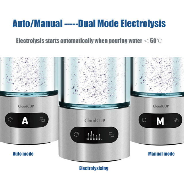 US $179 9 |Hydrogen Water Generator Japanese Hydrogen Rich Ion Membrane  Bluetooth OLED display Smart Drinking Water Cup-in Water Filters from Home